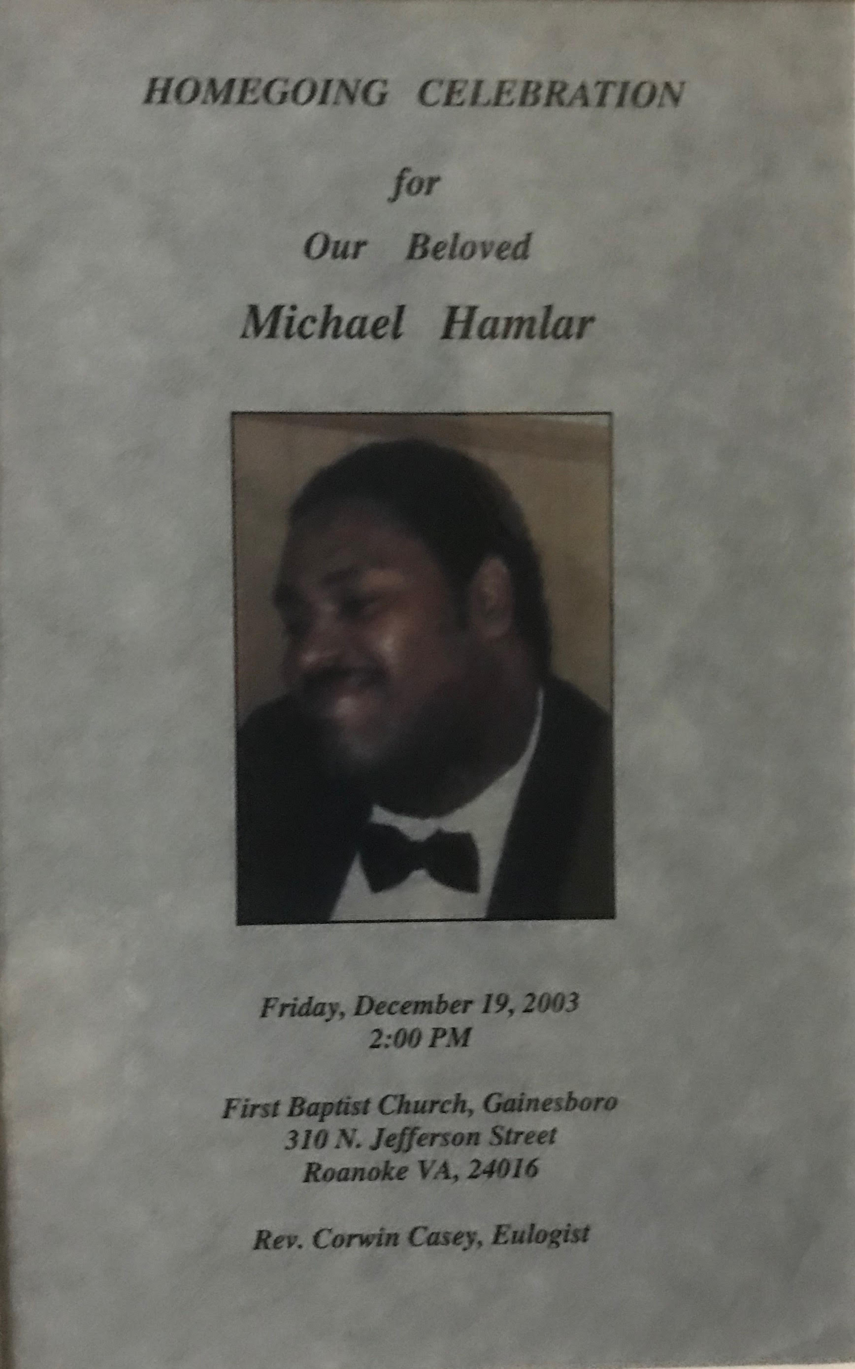 Honoring Our Dearly Departed Partners | Our Story | Hamlar