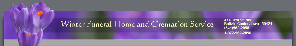 Winter Funeral Home and Cremation Service
