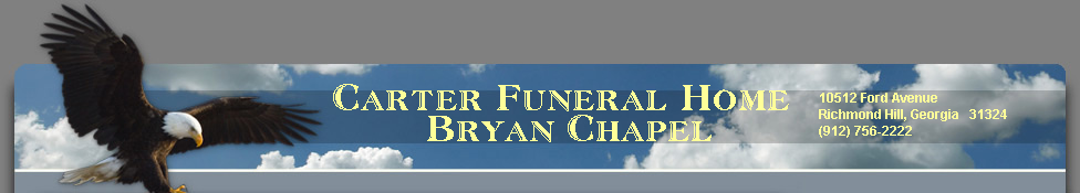 Carter Funeral Home Bryan Chapel