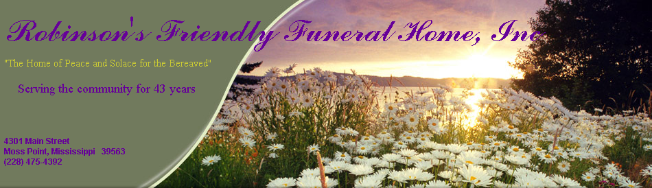 Robinson's Friendly Funeral Home, Inc