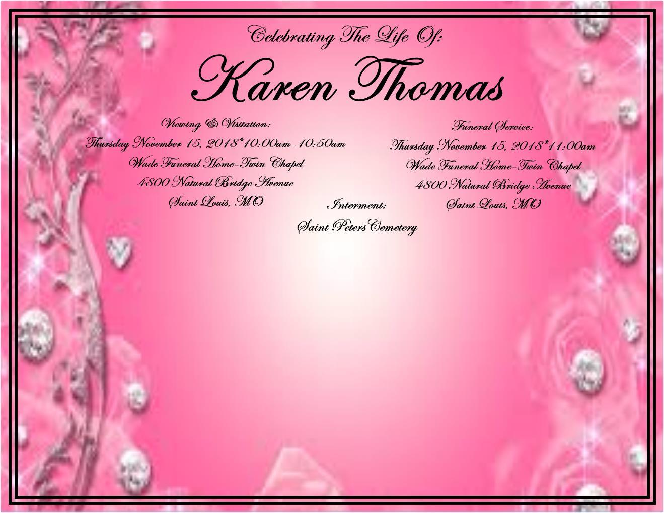 Find Karen Thomas At Legacy Com