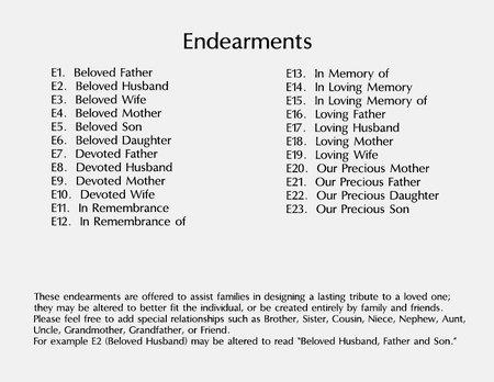 Unique terms of endearment list
