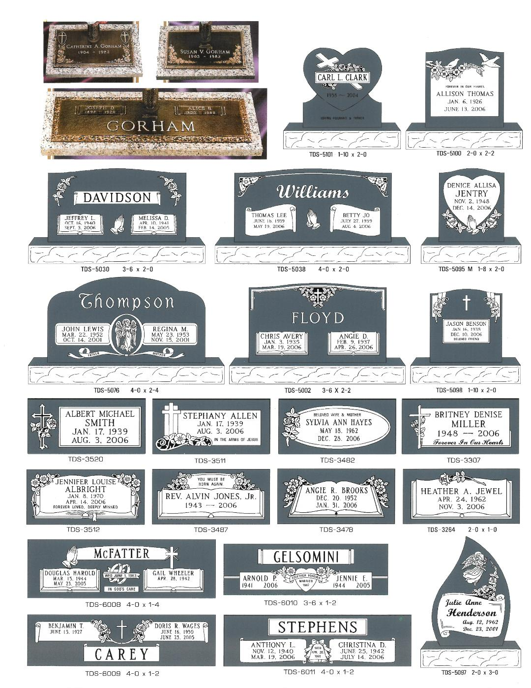 Headstones And Grave Markers Sullivan Bros Mortuary Inc Of Greer