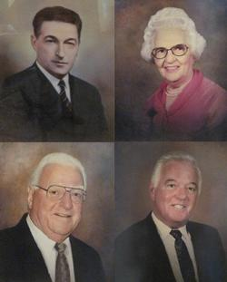 (clockwise from top left) William F. Chambers, Sr., Agnes B. Chambers, Daniel B. Chambers, Sr., William F. Chambers, Jr.
