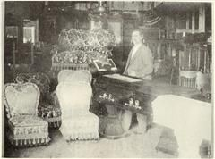 Henry Martin in his store
