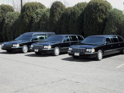 A view of the funeral fleet