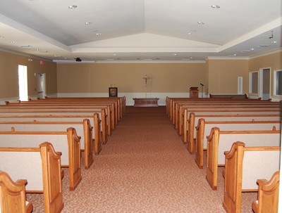 Our chapel comfortably sits 300 guests.